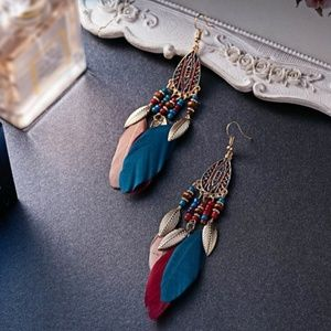 Jewelry - Boho Feather Hippie Bohemian Earrings